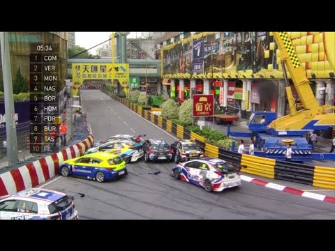 Macau Grand Prix 2016. All Crashes and Fails