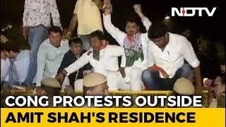 SPG Cover For Gandhis Withdrawn, Congress Protests Outside Amit Shah's Home