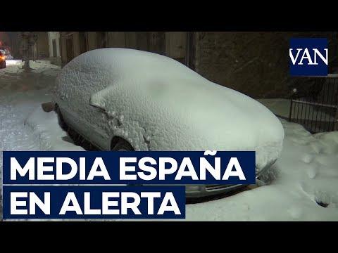 MEDIA ESPAÑA en ALERTA por NIEVE y VIENTOS FUERTES
