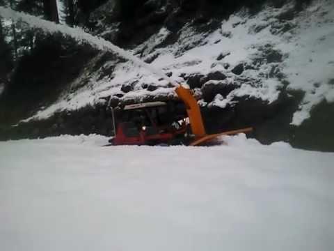 AEBI TT 95 mit Schneefräse