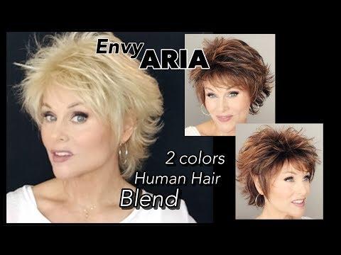 Envy ARIA Wig Review | Cinnamon Raisin & Medium Blonde | Human Hair Blend