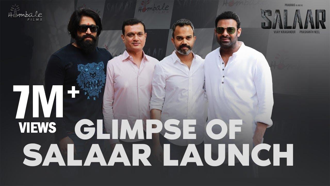 Glimpse Of Salaar Launch | Prabhas | Prashanth Neel | Vijay Kiragandur | Hombale Films