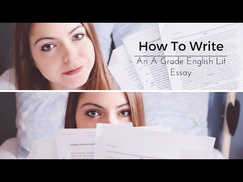 How To Write An A Grade English Literature Essay (A Level) | Katie May