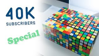 solving 40 rubiks cubes 40k subscribers special