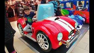 Alex Having Fun Riding on the Red Car * Token Ride for Kids