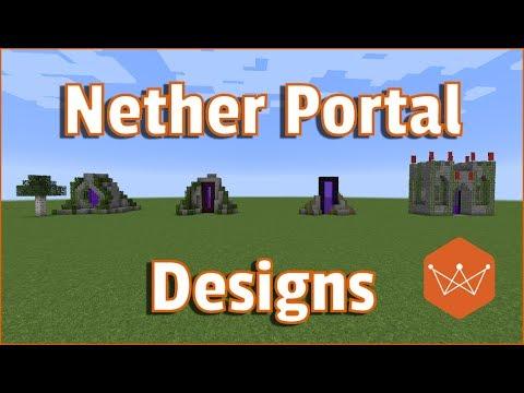 Minecraft nether portal designs tutorial survival friendly for Portale design