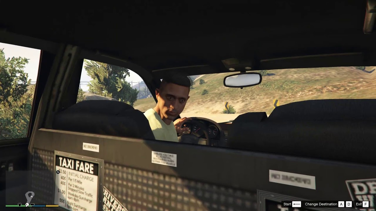 GTA5 – 2019-08-16th – Franklin – Taxi Adventures – #2 – Five Minutes Later…