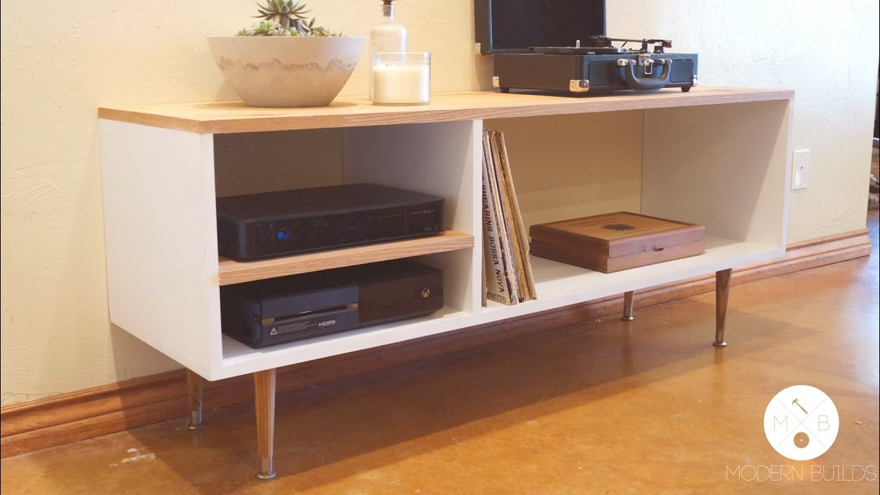 DIY Mid Century Modern Console Table | Modern Builds | EP ...
