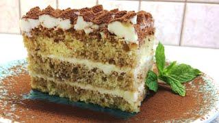 ????Просто НЕВОЗМОЖНО оторваться !!! #ТОРТ ТИРАМИСУ БЕЗ ЯИЦ В КРЕМЕ | #Tiramisu Layer Cake recipe