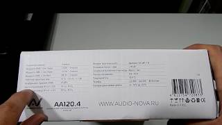 Автомобильный усилитель Audio Nova AA 120.4 обзор