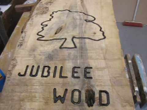 wooden sign made using rutlands router letter template set