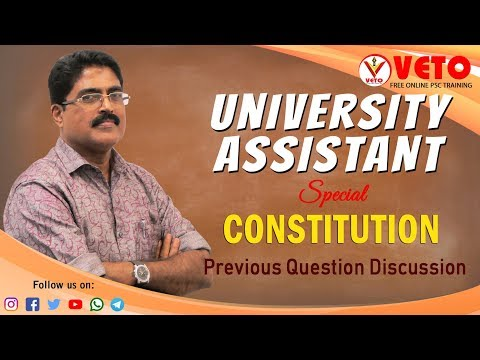 Kerala PSC | University Assistant | Degree Level | Constitution | Chandrababu