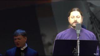 Хор Валаамского монастыря и иеромонах Фотий.