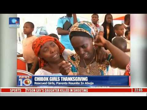 Chibok Girls Thanksgiving: Rescued Girls, Parents Reunite In Abuja