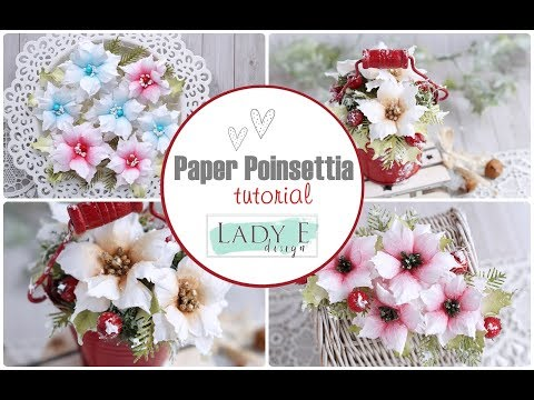 Easy Paper Poinsettia Tutorial / DIY Christmas Flowers