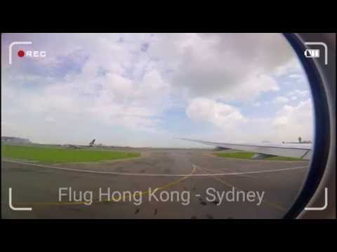 Auf der Suche nach dem Känguru #1 - Flug Hong Kong - Sydney