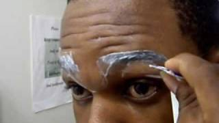 A very funny tutorial a guy teaching how to arch eyebrows