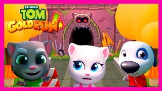 ТОМ ЗА ЗОЛОТОМ #31. МОЙ ГОВОРЯЩИЙ ТОМ АНДЖЕЛА И ДРУЗЬЯ - игра мультик видео для детей.