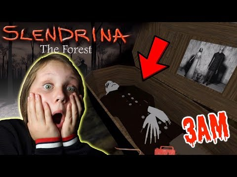I Beat SLENDRINA The Forest Game at 3AM!! Granny's Granddaughter!!
