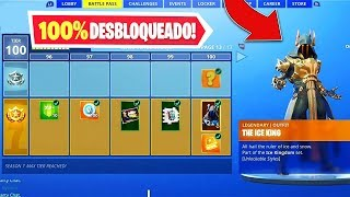 * NEW * I got the maximum level of the battle pass of season 7 Fortnite and it appeared..