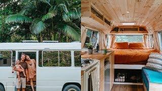 VAN TOUR   DIY School Bus TINY HOME