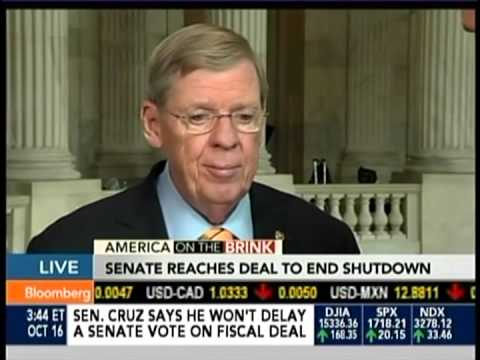 Sen. Isakson Discusses the Debt Ceiling/CR Deal on Bloomberg