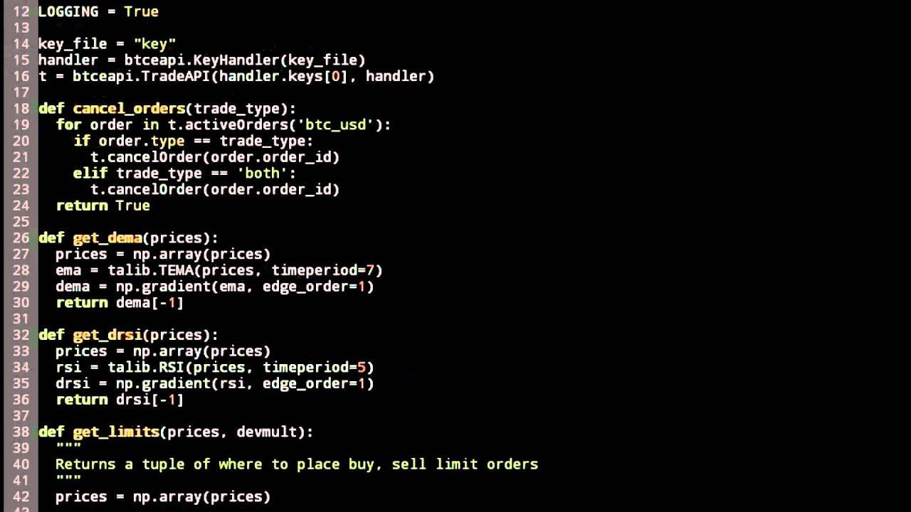 python trading bot bitcoin