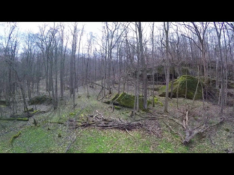 Aerial footage in Amesville, Ohio