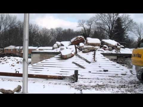 Demolition Update: Old Ravenna High School 2-5-13