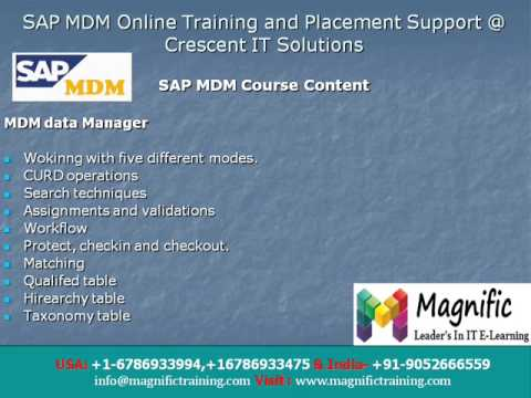 sap mdm online training tutorial in india - YouTube