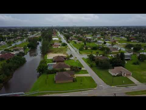 Drone Video of Cape Coral, Florida After the Flooding waters on 8/27/2017