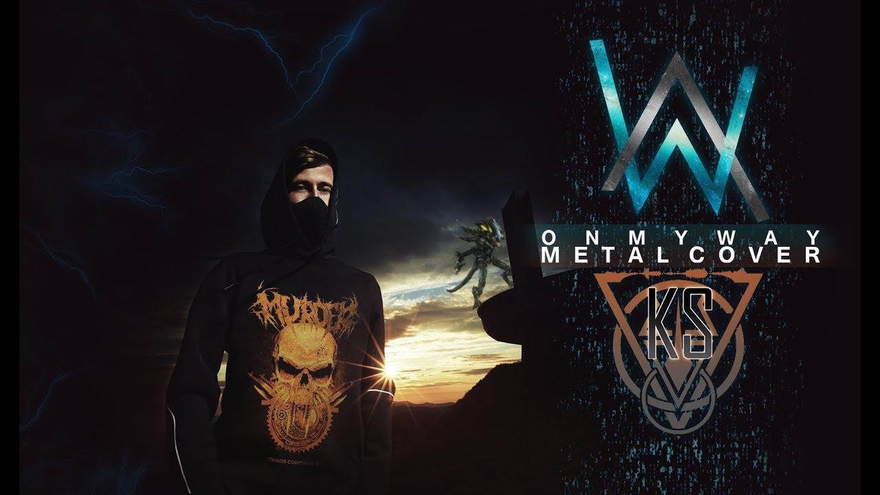 alan walker - on my way - metal cover - YouTube