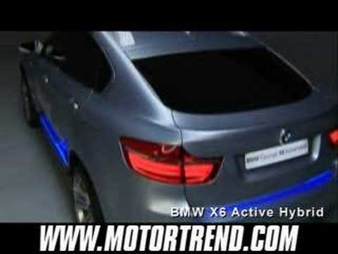 2007 Frankfurt: BMW Concept X6 and Active Hybrid Unveiling V - YouTube