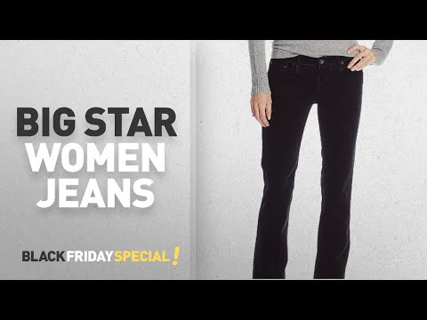 Top Black Friday Big Star Women Jeans: Big Star Women's Classic Remy Mid Rise Corduroy Boot Cut