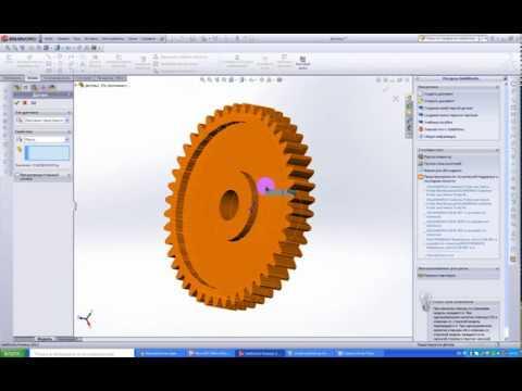 Как нарисовать зубчатое колесо в SolidWorks