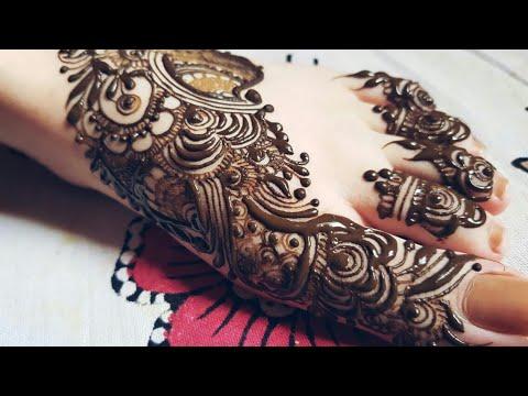 Arabic Mehndi Design For Legs 2018 Heena Vahid Youtube