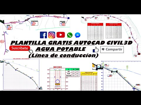 PLANTILLA GRATIS CIVIL3D  - SISTEMA DE AGUA POTABLE (Linea de Conduccion)
