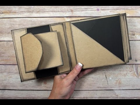 Unique Square Envelope Mini Album Tutorial