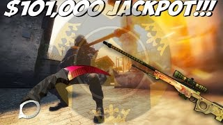 Biggest Jackpot Win Ever | 101k Win + INSANE Reaction (CS:GO Betting)