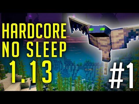Défi Minecraft 1.13 - Hardcore No Sleep #1 : Survie Extrème !
