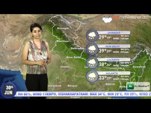 30/06/14 - Skymet Weather Report for India