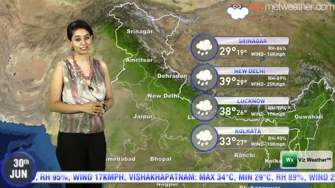 Skymet Weather Map 30/06/14   Skymet Weather Report for India   YouTube Skymet Weather Map