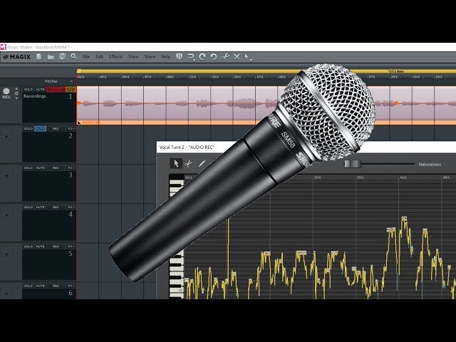 How to Add Vocal tune and Effects using Magix Music Maker