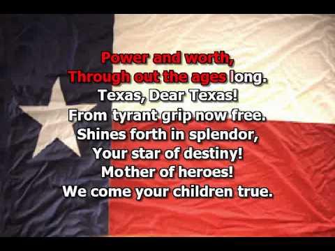 Texas Our Texas song - karaoke