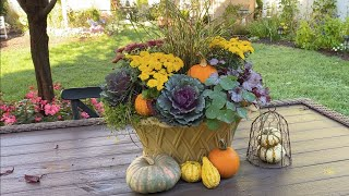 Fall Garden Tour and Beautiful Arrangement 🍁