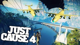 When Giant Cargo Planes Meet Bridges And Trains in Just Cause 4