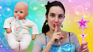 Vidéos pour enfants avec Peppa Pig. Dent de lait du bébé born Annabelle