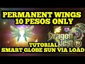 #SUBSCRIBE DRAGON NEST M-SEA: HOW TO GET PERMANENT WINGS FOR 10 PHP VIA LOAD TUTORIAL