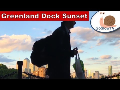 Sunset of Greenland Docks | London | Slow TV | Episode 1 | By GoSlowTV