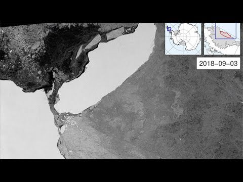 Iceberg A-68 out into the Weddell Sea